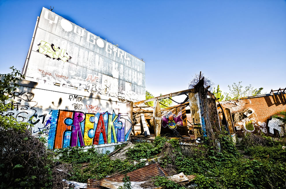 Teufelsberg FREAK graffiti 2011