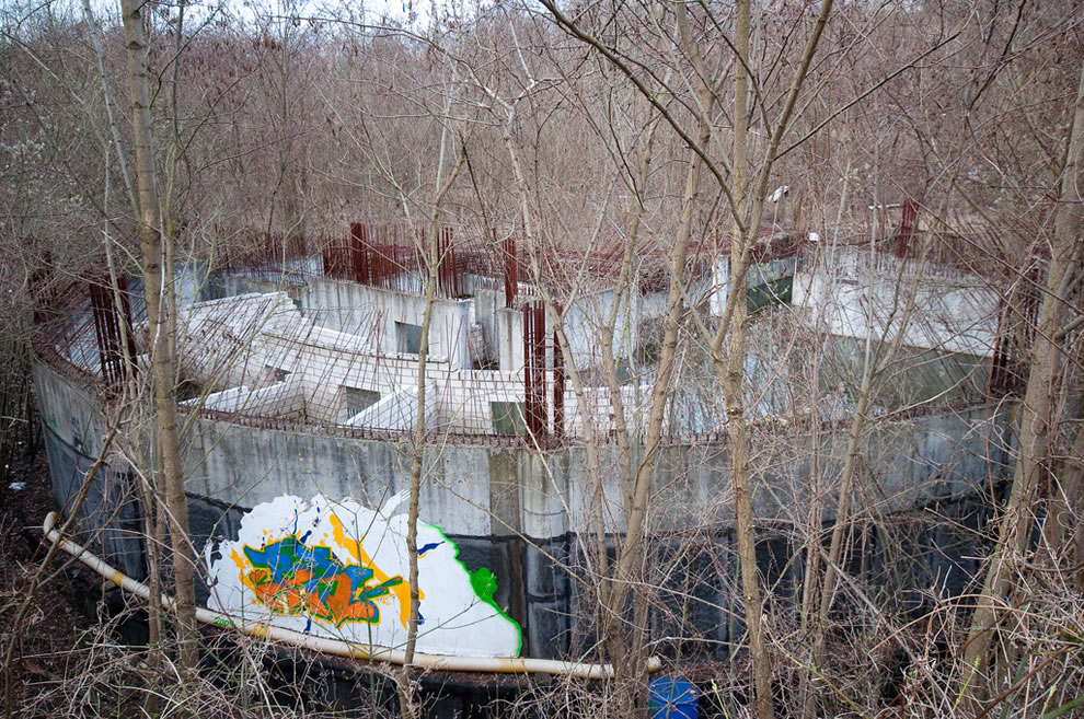 Unfinished building at Teufelsberg in Berlin, former NSA listening station