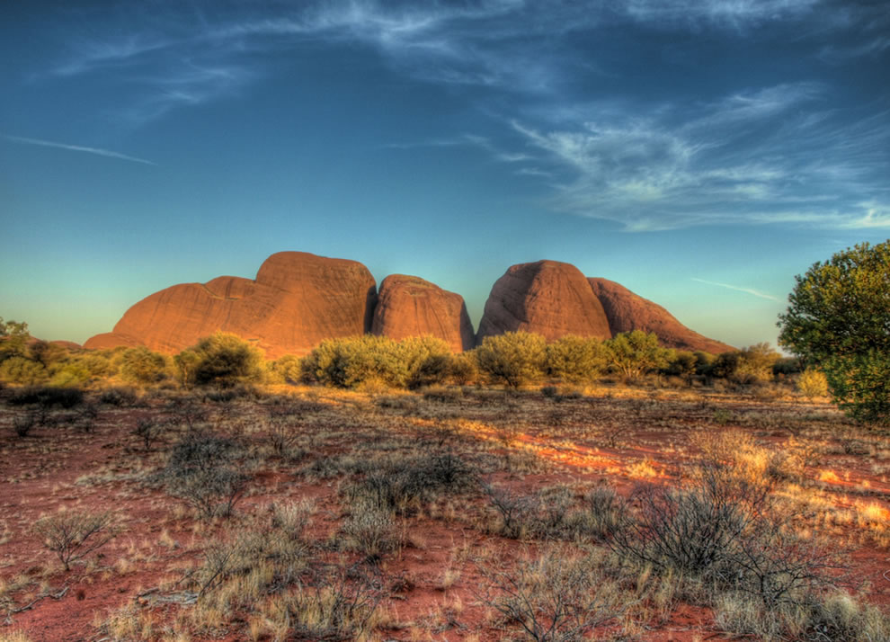 Australia's Kata Tjuta at sunset