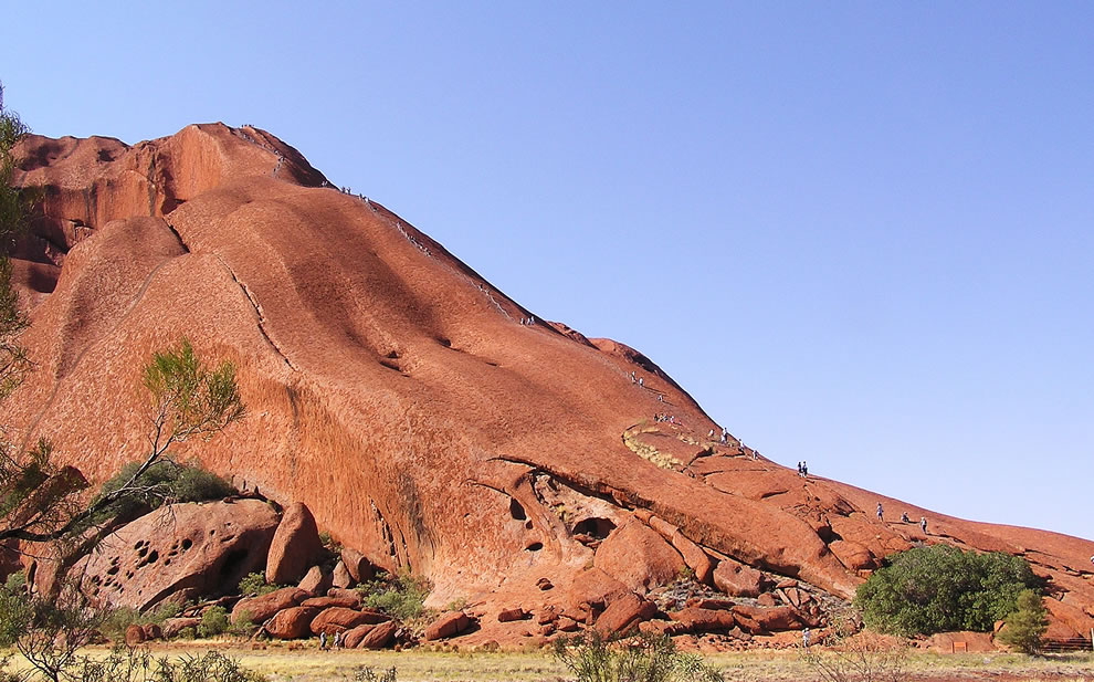 Ayers Rock - Kuniya walk (Rock climbing)