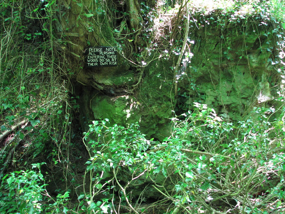 Entrance to Puzzlewood. A pre-Roman iron mine