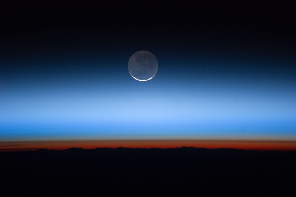 ISS shot of Earth's Moon
