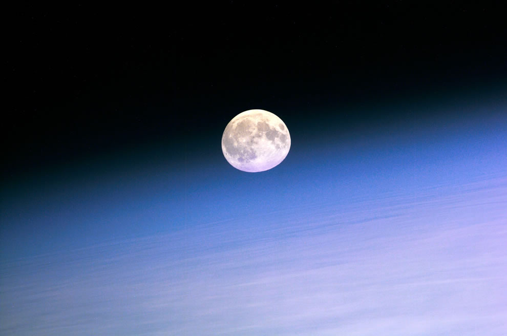 Moon from ISS