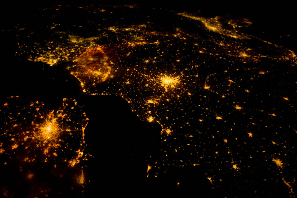 Northwestern Europe August 10, 2011 as seen by ISS