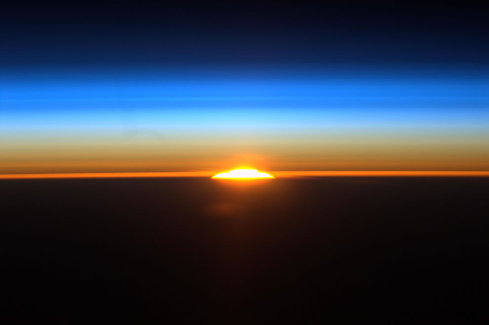 Sunrise 1 of 16 sunrises ISS astronauts see everyday