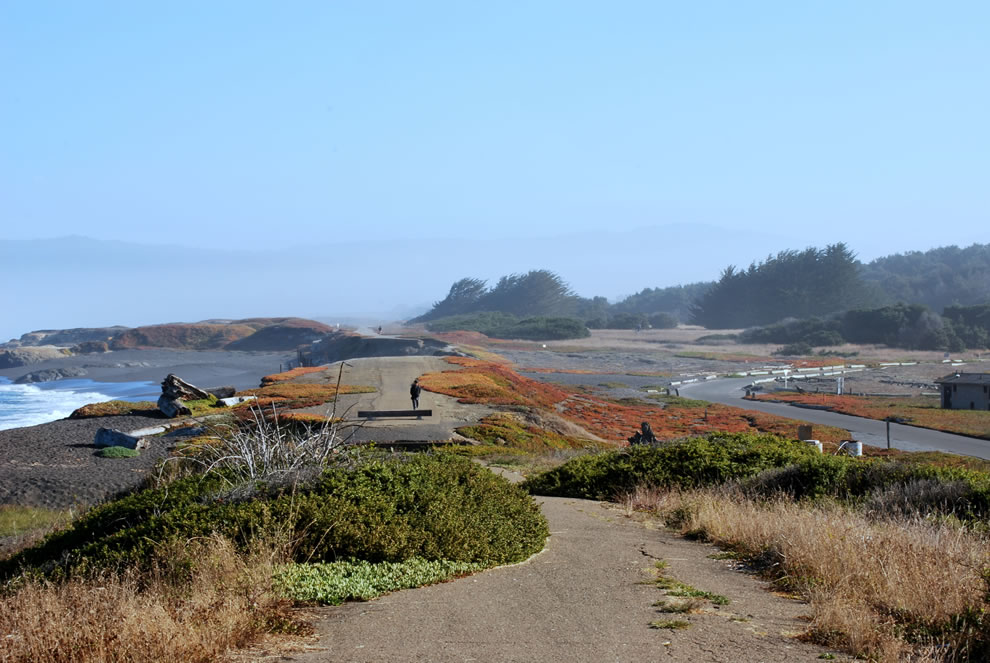 The Ten Mile Haul Road runs north of Fort Bragg, though MacKerricher park
