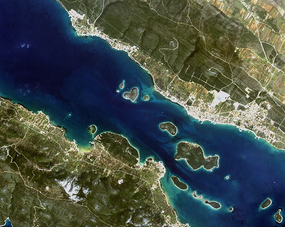 The heart-shaped island of Galešnjak