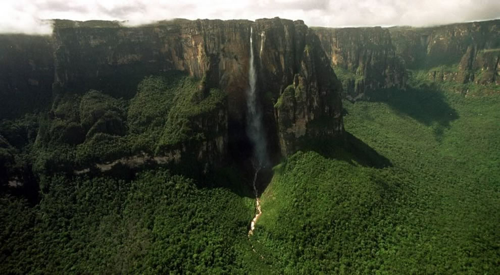 Aerial of Angel Falls