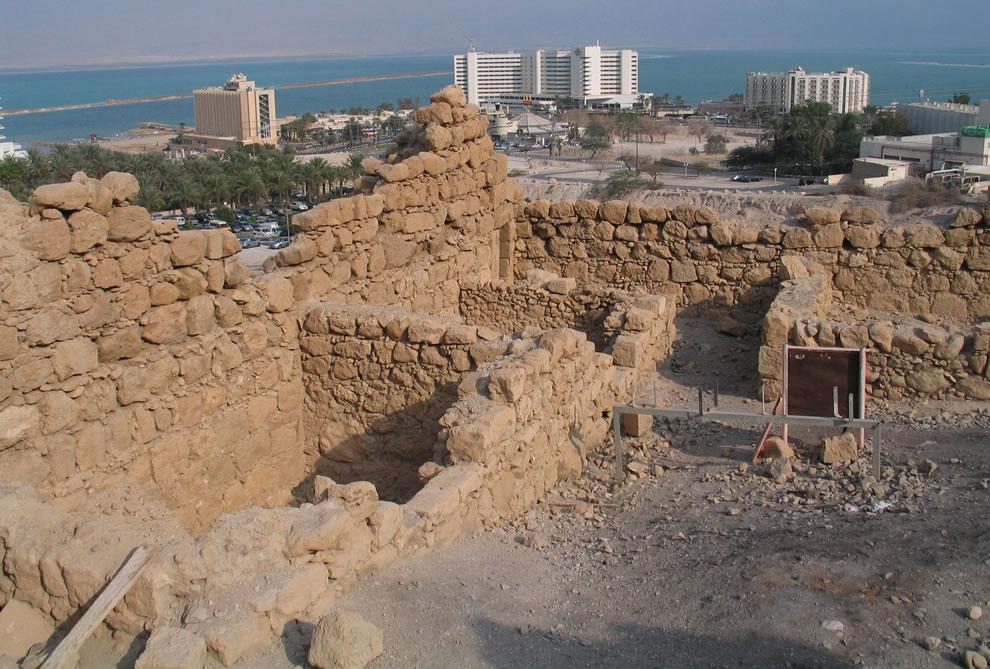 Bokek Stronghold, Ein Bokek, Israel with Dead Sea in the background
