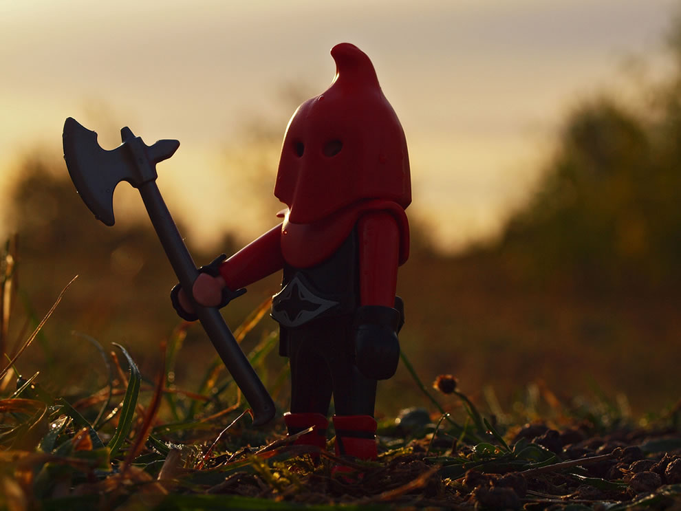 LEGO executioner at dawn