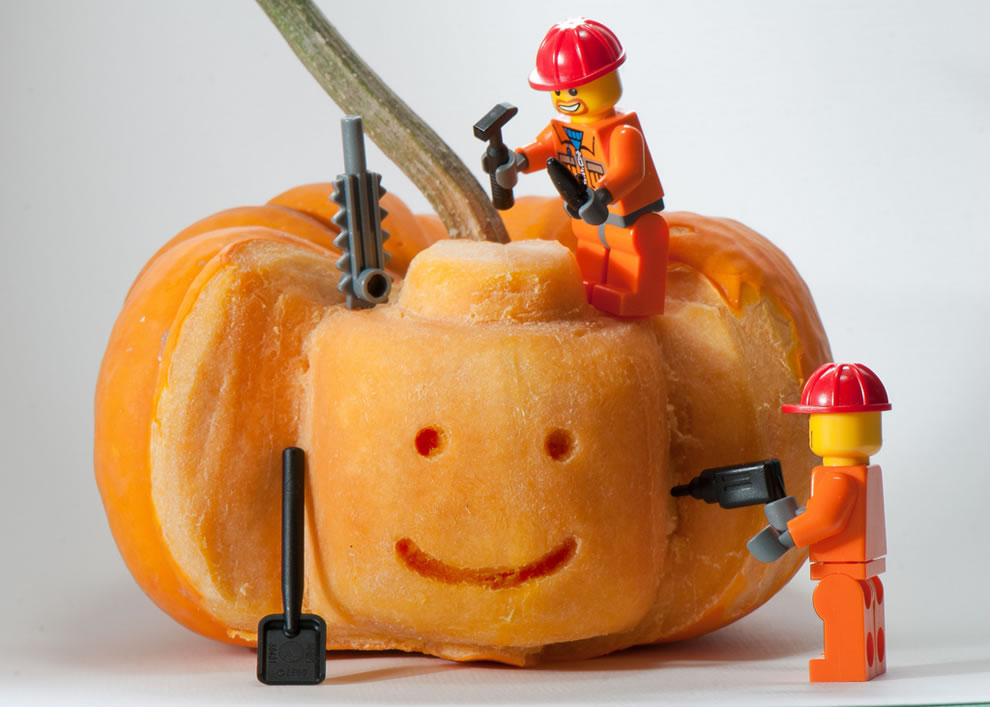 Lego Pumpkin carving