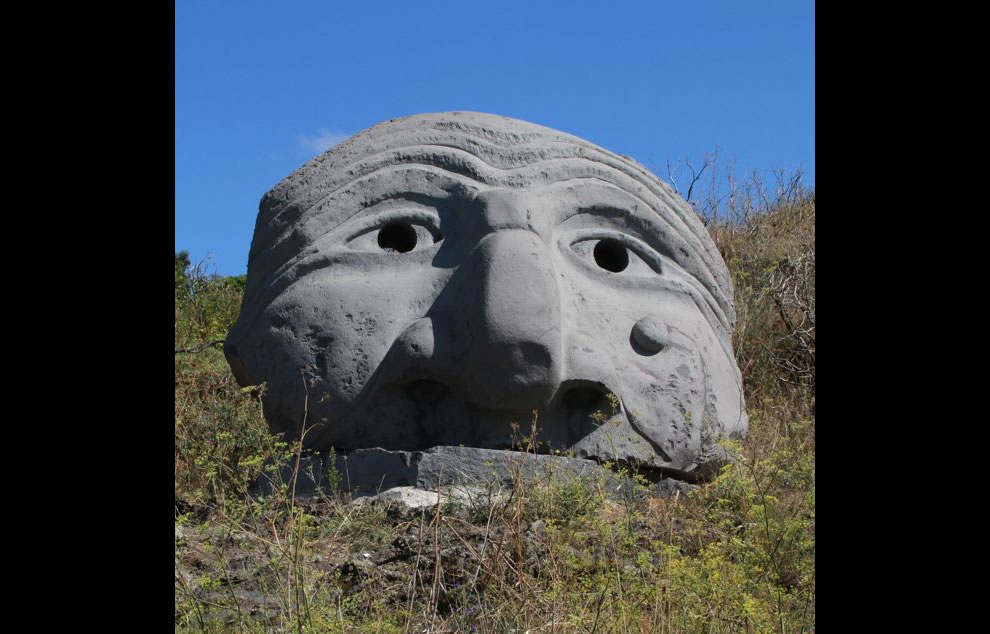 Mount Vesuvius sculpture