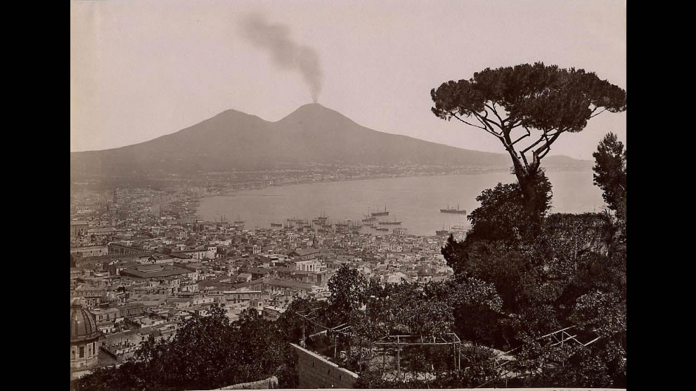 Naples - A view taken from Villa Tolentino