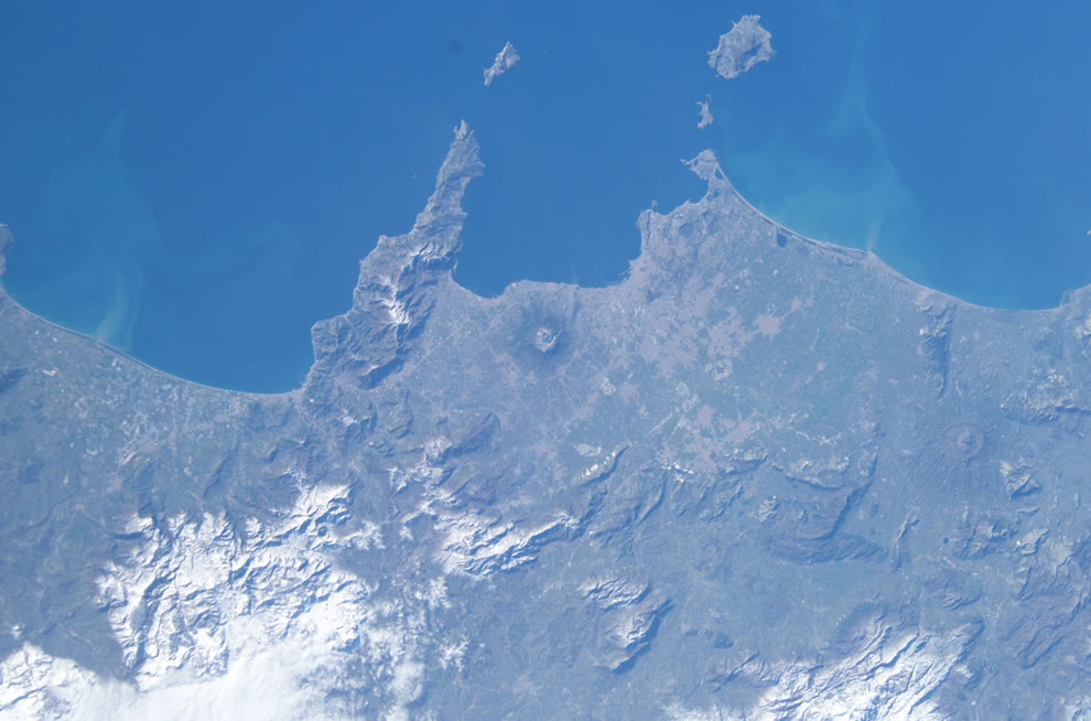 Satellite of Mount Vesuvius, Naples