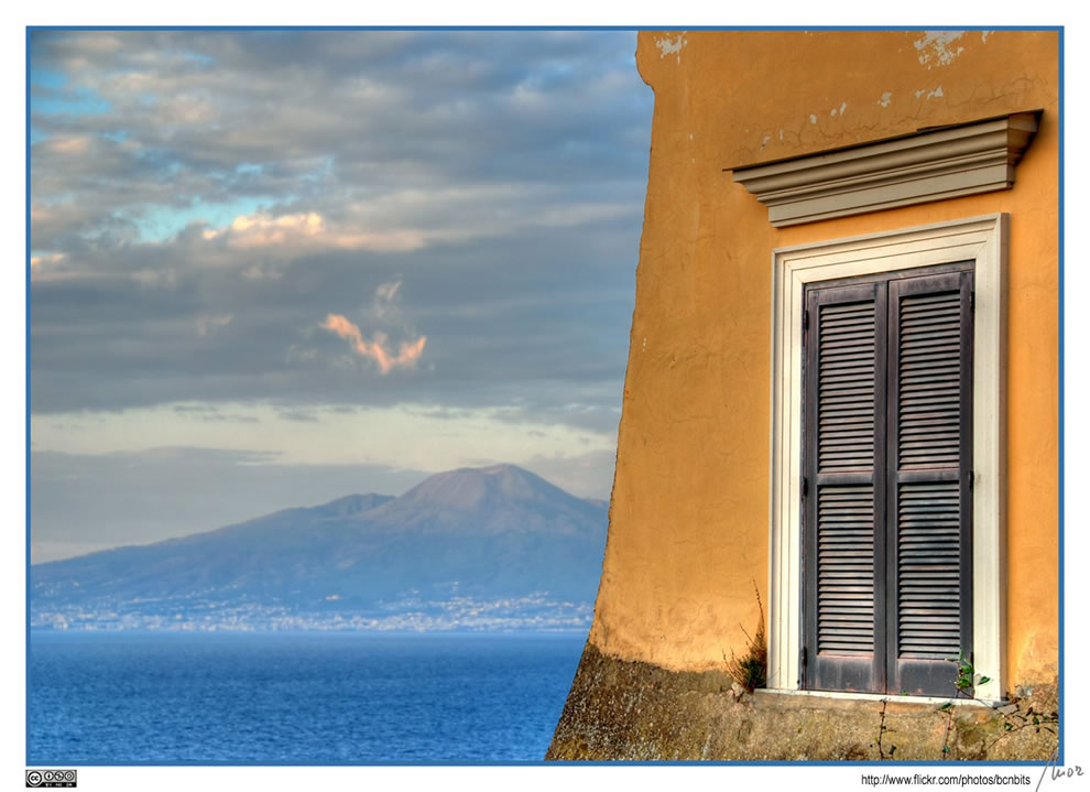 Vesuvius view from Sorrento