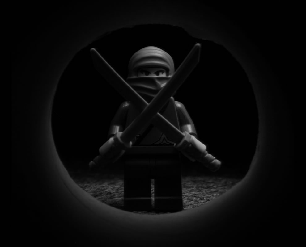 lego ninja b&amp;w The Ninjas only work at night