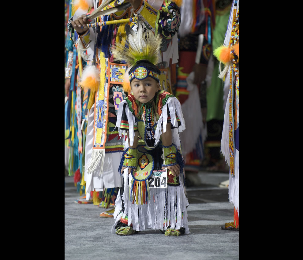 Adorable little boy at National PowWow