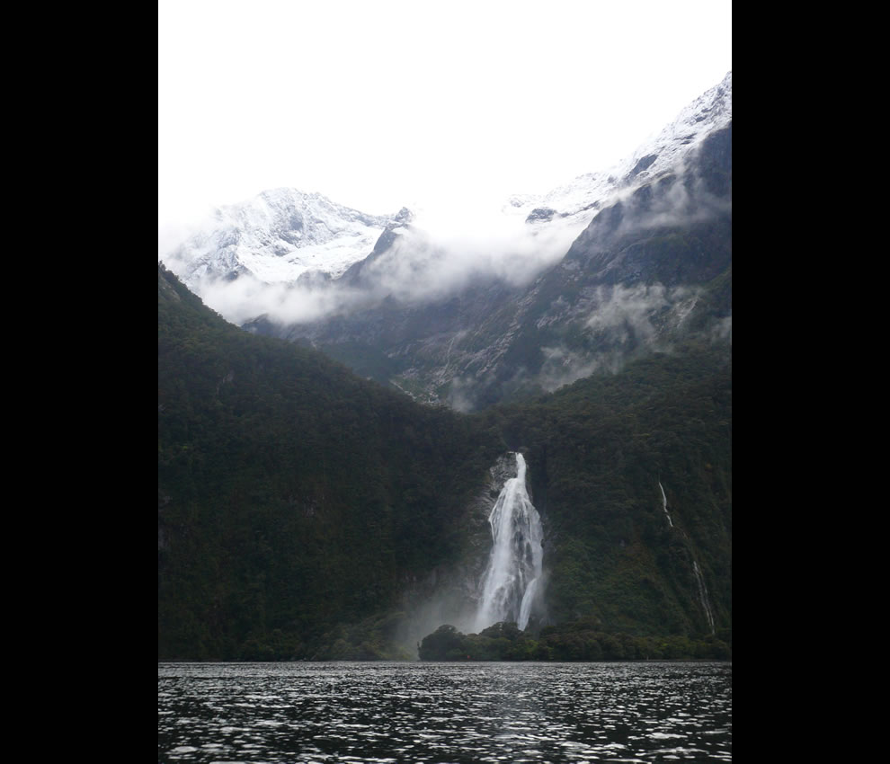 Bowen Falls at Milford Sound, New Zealand