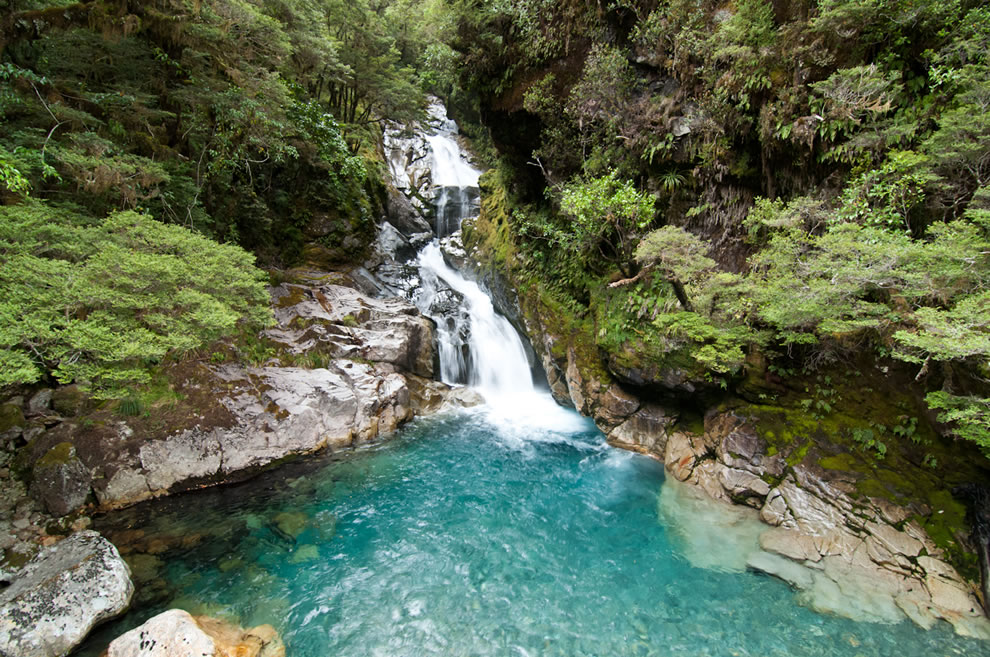 Falls Creek Falls, NZ on the way to Milford Sound