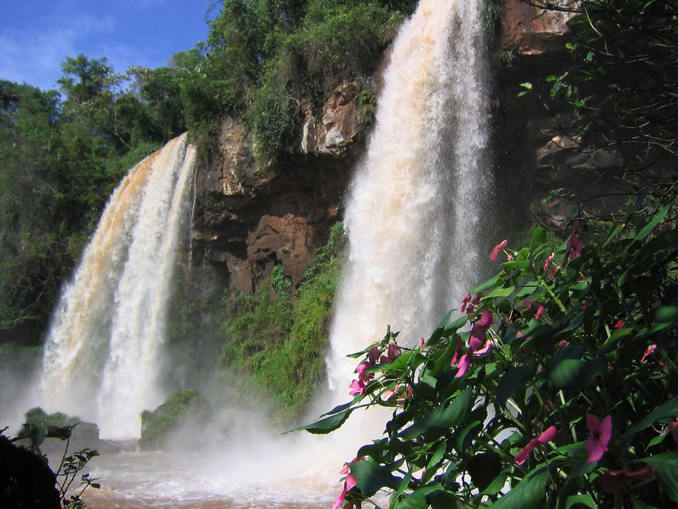 Iguazu Falls, on the Argentinian border with Brazil