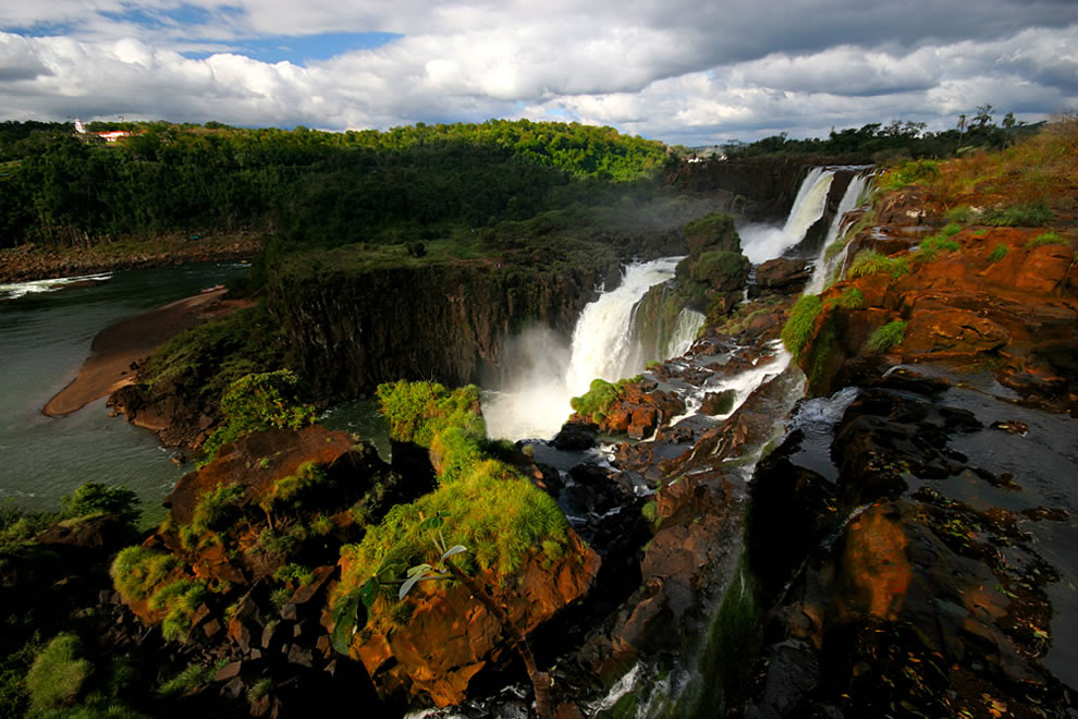 Iguazu Falls in the very north of Argentina, on the border with Brazil, the superiors