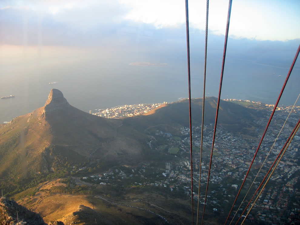 Lion's Head as seen from Table Mountain cable car