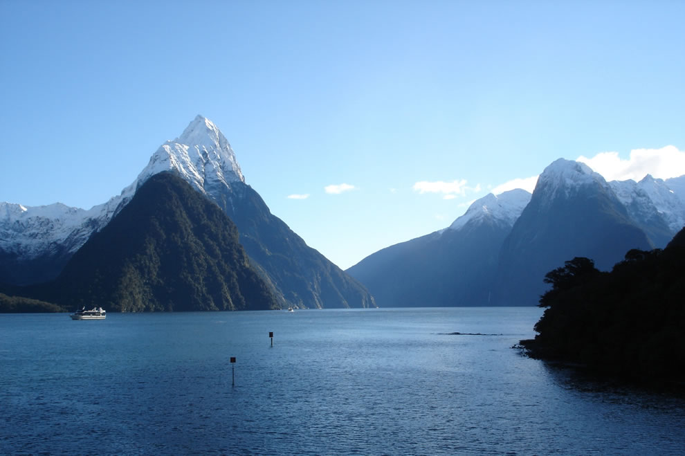 New Zealand&#039;s Milford Sound. Milford Sound, one of New Zealand&#039;s most famous tourist destinations