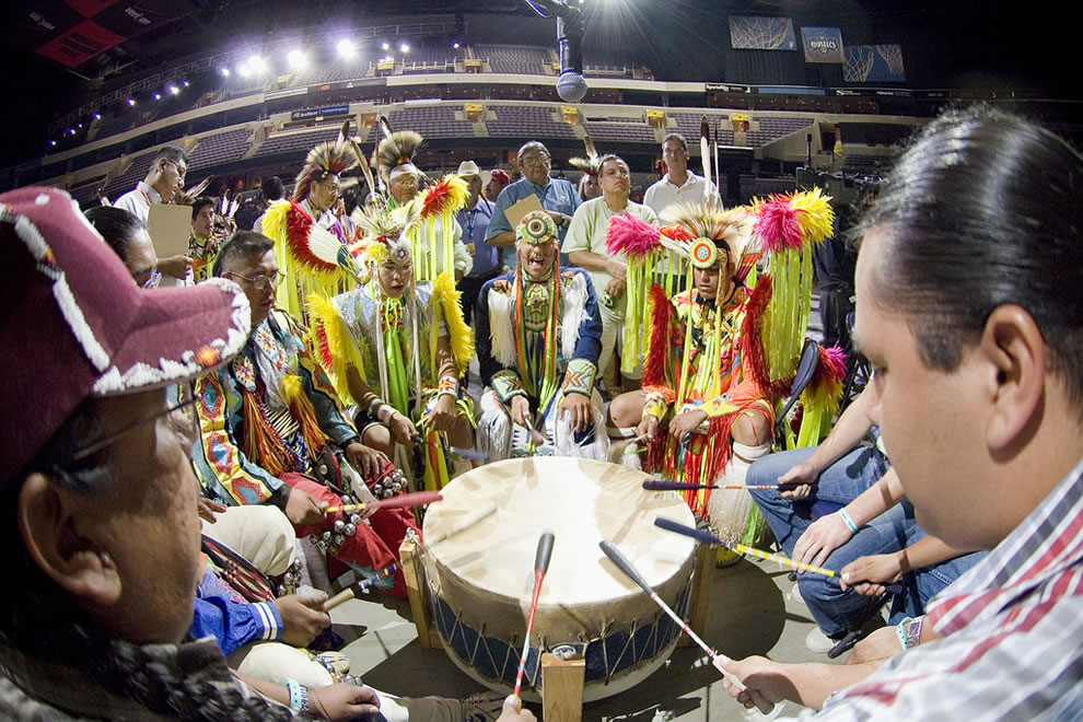 Pow Wow drum contest