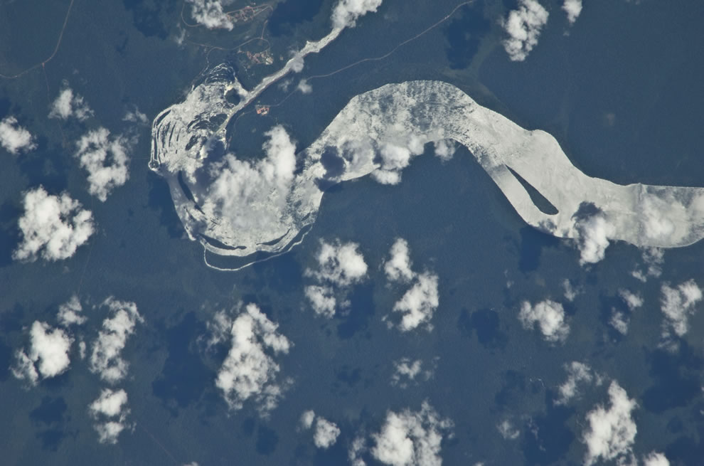 Satellite image of the falls