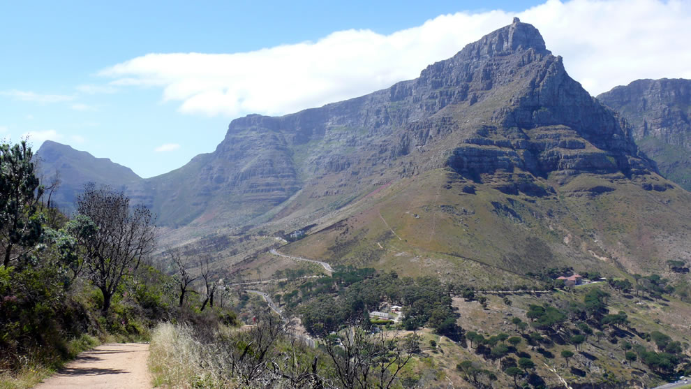Table Mountain from slopes of Lion's Head