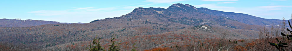 The southern face of Grandfather Mountain