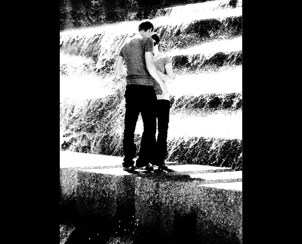 Kissing in Public -- Fort Worth Water Gardens