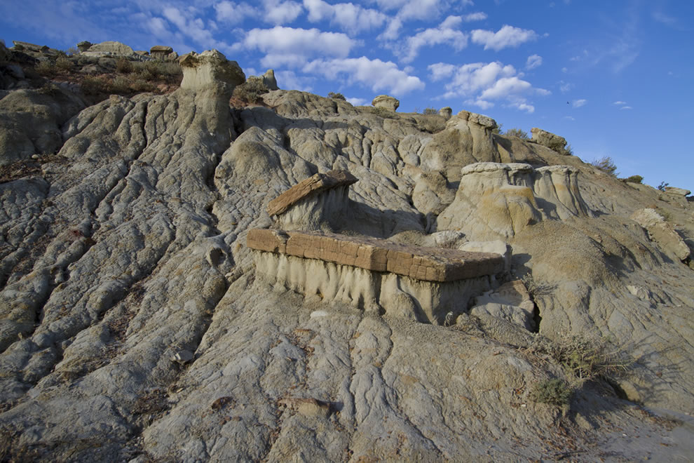 rock formations at Theodore Roosevelt National Park, North Dakota