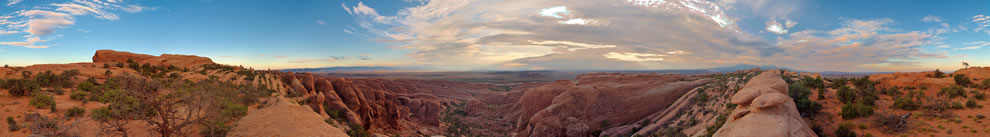 360° Panoramic view from primitive trail to Devils Garden