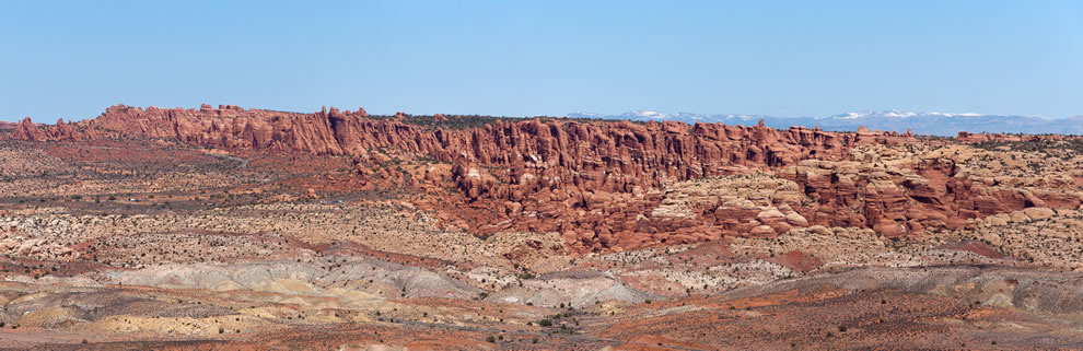 Arches National Park - Fiery Furnace Panorama