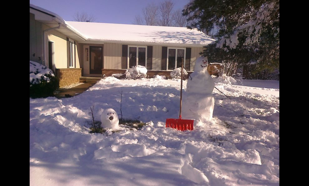 Calvin & Hobbes comic strip front yard tribute