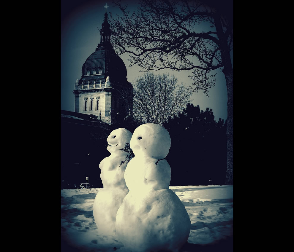 Calvin & Susie's Semi-Anatomically correct snowmen
