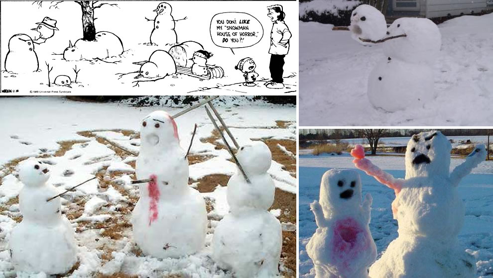 Calvin and Hobbes Snowman House of Horror