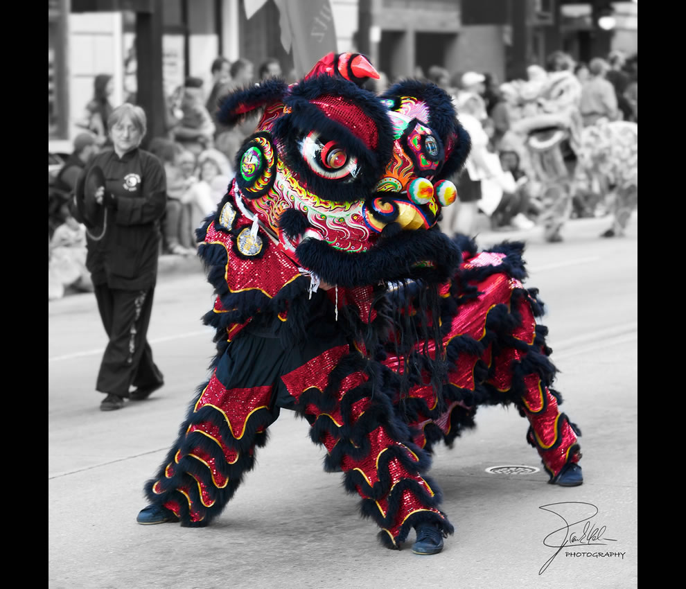 Year of the Dragon -- Chinese Lion at Dogwood Parade, Knoxville, Tennessee