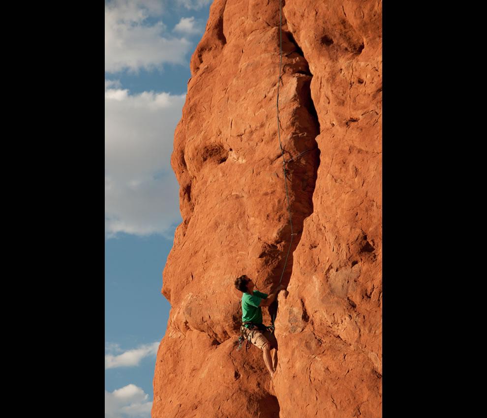 Climbing Owl Rock