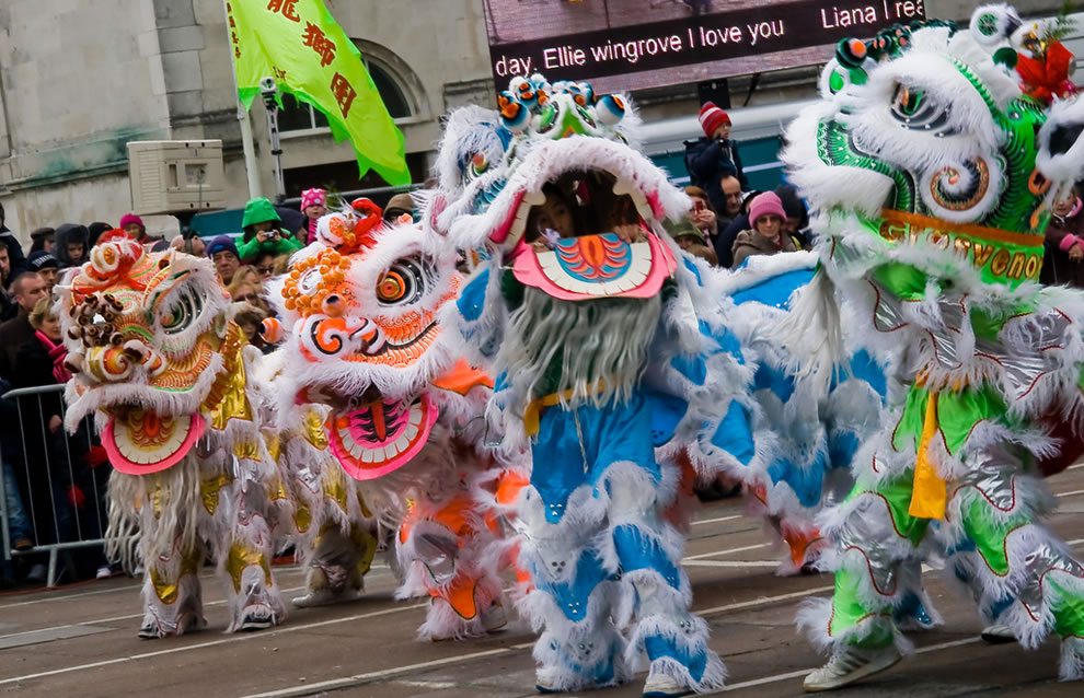 Dancing dragons for Chinese New Year
