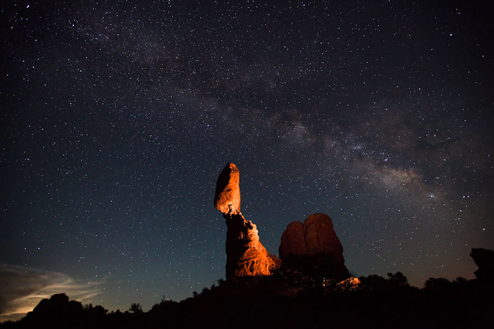Milky Way over Balanced Rock