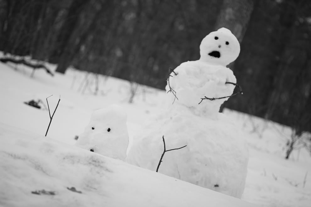 My snowmen. A take on a Calvin Original
