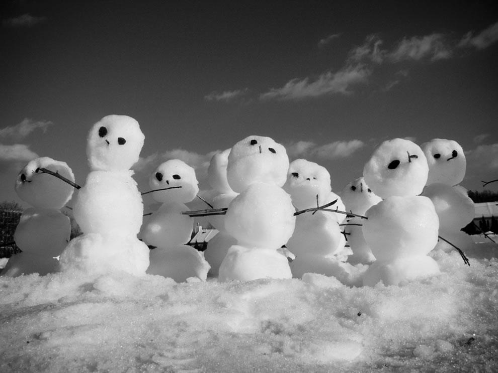 Silly Little Calvin and Hobbes-esque Snowmen