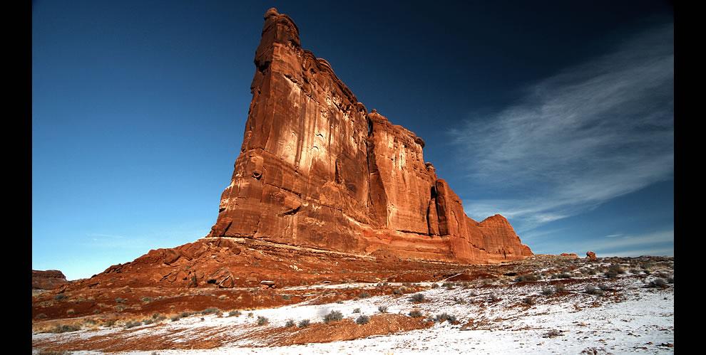 The Courthouse Tower, Arches National Park, Moab, Utah