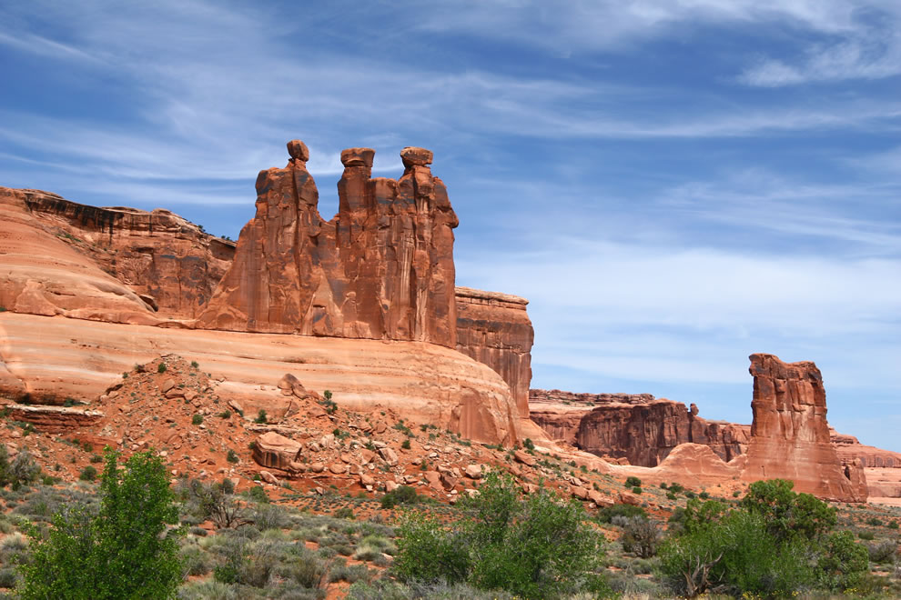 The Three Gossips at Arches National Park, Utah