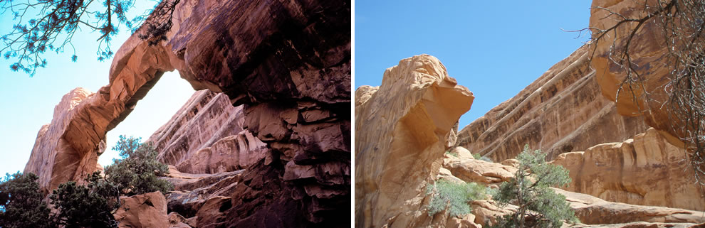 Wall Arch Before and After 2008 Collapse