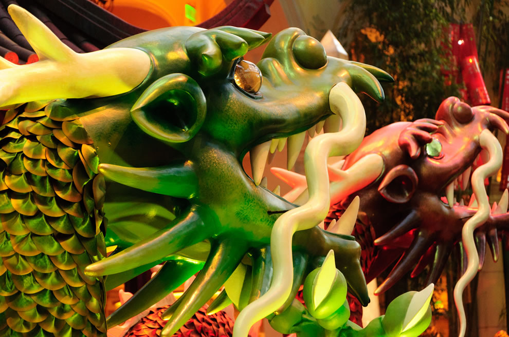 Year Of The Dragon -- sculptures in the Conservatory at the Bellagio