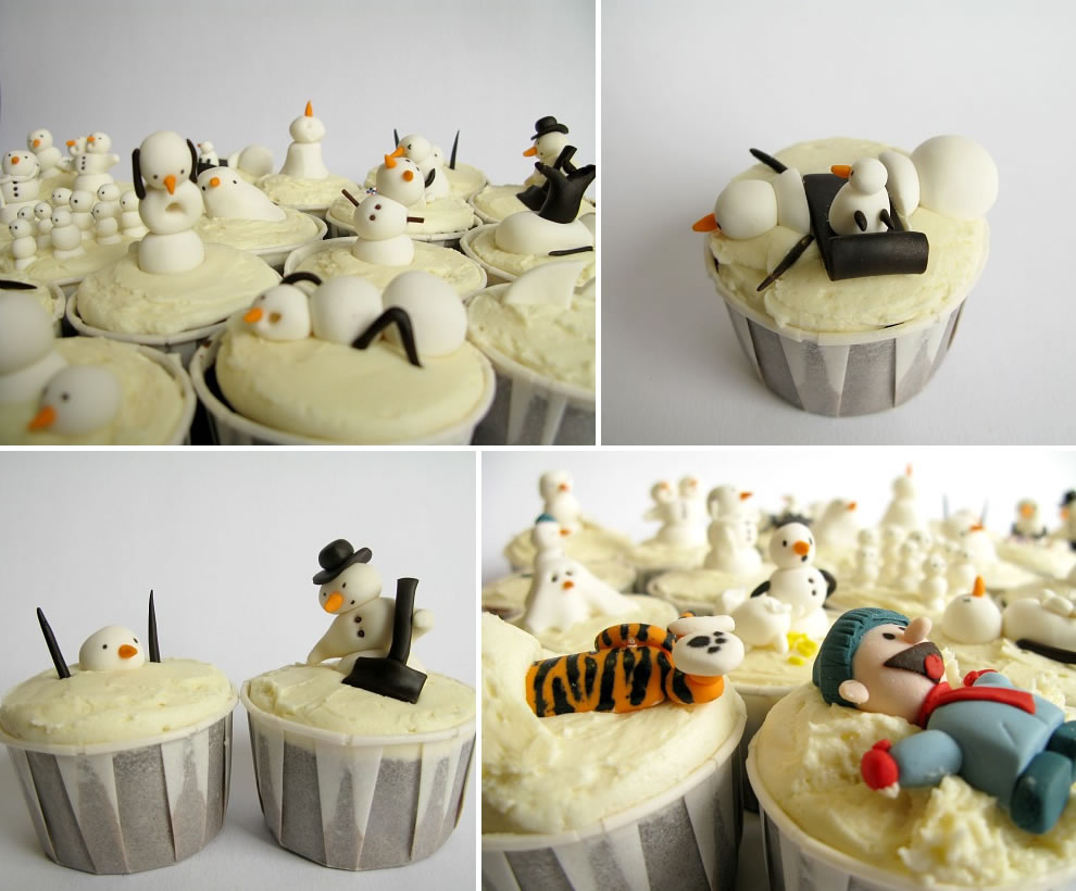 delicious Calvin and Hobbes delights -- birthday cakes