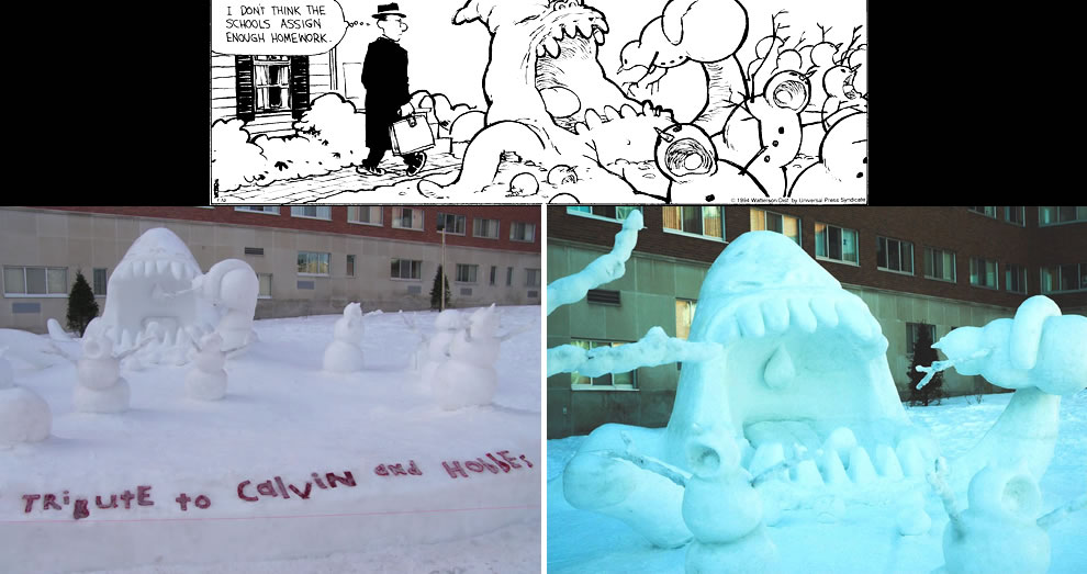 Calvin & Hobbes snow monsters
